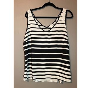 Black and White Striped Caché Tank top